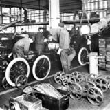 Bilproduktion på Henry Fords fabrik