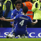Willian scorede to gange i Chelsea sejr over Stoke. Reuters/Eddie Keogh
