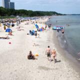 Den tyske Østersøkyst er lang og lækker - og let genkendelig med de karakteristiske strandkurve, der skærmer for vinden.