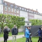 Der blev skåret en god del af den daværende Kongens Have, da Kronprinsessegade i baggrunden blev til.