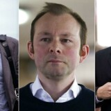 (Files) A combination of file pictures created on July 4, 2016 shows Former Barclays employees (L-R) Jay Merchant, Jonathan Matthew and Alex Pabon leaving Southwark Crown Court in London on April 6, 2016. Three former employees of the British bank Barclays were convicted Monday by a London court handling the Libor interbank rate . / AFP PHOTO / JUSTIN TALLIS