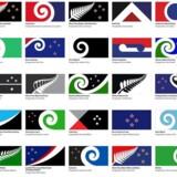 Af 10.292 indsendte forslag til et nyt flag har den new zealandske regerings flagpanel nu valgt de 40 bedste. Foto: PR