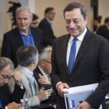 Chefen for Den Europæiske Centralbank (ECB) Mario Draghi ser lysere på den europæiske økonomi, hvilket blandt andet skyldes, at han hver måned sender 60 mia. euro ud i systemet.