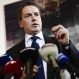 Forhenværende udviklingsminister Christian Friis Bach bekræftede sin afgang som minister på et pressemøde torsdag 21. november 2013 i Eigtveds Pakhus.