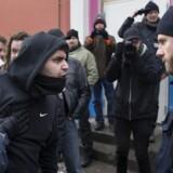 Gruppen For Frihed, som er den danske afdeling af det tyske, antimuslimske Pegida, demonstrerede lørdag i København. Demonstrationen blev mødt af en antifascistisk moddemonstration.