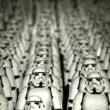 """Five hundred replicas of the Stormtrooper characters from """"Star Wars"""" are seen on the steps of the Great Wall of China during a promotional event for """"Star Wars: The Force Awakens"""" film, on the outskirts of Beijing, China in this October 20, 2015 file photo. The terminally ill Texas man and """"Star Wars"""" fan who was granted his dying wish to see the new """"The Force Awakens"""" film before it comes out in theaters has died, just a few days after viewing the movie, the man's wife said in a Facebook post on November 10, 2015. REUTERS/Jason Lee/Files"""