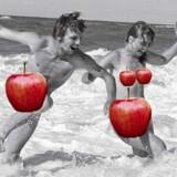 Dette foto er et af de i alt 47 billeder fra Peter Øvig Knudsens bøger om de danske hippier, som Apple har afvist. Efter at forfatteren selvcensurerede med røde æbler, blev bøgerne dog godkendt af Apples digitale boghandel i ganske få dage. Herefter blev udgivelserne fjernet.