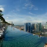 Pool med glasbund på 24. etage, Cantilever Swimming Pool på Holiday Inn Shanghai Pudong Kangqiao i Kina. Foto: PR