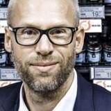 Coop's Food-direktør Jens Visholm med økologiske varer i Brugsen. Sted: SuperBrugsen, Nordre Frihavnsgade, København Ø.