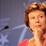 EUs kommissær for den digitale dagsorden, tidligere konkurrencekommissær Neelie Kroes, fremlægger i næste uge EUs seneste skridt for at sikre større udbredelse af høje internethastigheder i hele EU. Foto: Virginie Lefour, EPA/Scanpix