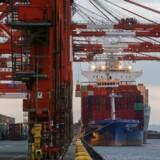 Prisen for at fragte en container mellem Asien og Europa faldt med hele 20,6 pct. i sidste uge, så den gennemsnitlige pris lød på 558 dollar per tyvefodscontainer (teu).