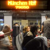 epaselect epa04915956 Refugees are seen inside a train heading to Germany, to Munich's train station, as they transit at the Main Railway Station in Salzburg, Austria, 06 September 2015. Thousands of refugees streamed on 05 September into Austria and on to Germany after being allowed to leave Hungary, putting further strain on EU unity as the bloc struggles with its biggest influx of migrants since World War II. Many of the migrants are fleeing war-torn countries such as Syria and Afghanistan, and thus qualify for international protection. But EU countries disagree on how to best handle the surge. EPA/BARBARA GINDL
