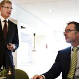 Administrerende direktør Lars Rebien Sørensen og forskningschef Mads Krogsgaard Thomsen.