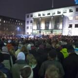 Mindehøjtidlighed på Rådhuspladsen i Aarhus mandag aften