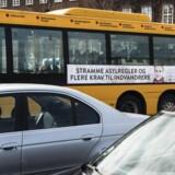 Da Socialdemokraternes nye kampagne om udlændinge- og integrationspolitikken søndag blev skudt i gang med plakater i gadebilledet, blev den straks mødt af kritik fra politiske modstandere. Foto: Simon Læssøe