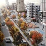Det næste kvarter i Ørestad, den vestlige del af Ørestad Syd, får op imod 3.000 boliger, og flere hundrede bliver række- eller byhuse. Aarhustegnestuen Transform har netop vundet konkurrencen om en masterplan. Animation fra Transform