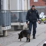 Politi på arbejde nær Krudttønden efter attentatet.