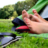Overnatning for en billig penge kan være på naturmåden i telt.