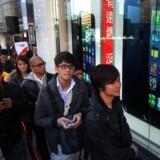 Der var ellers rigeligt med mennesker i køen, da iPhone 5 kom til salg i Taiwan i december. Men åbenbart færre end Apple havde regnet med.