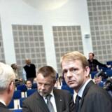 Bjarne Graven Larsen, fondsdirektør i ATP, fotograferet under TDC's ekstraordinære generalsforsamling 28 februar 2006 i København, hvor en afnotering blev drøftet.
