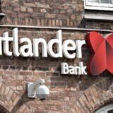 Jutlander Bank Logo på Falkoner Alle på Frederiksberg