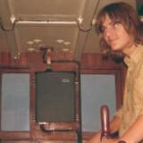 En meget ung Ole Sohn ombord på Endelave-fiskeren Valdes båd. Siden købte Ole sin egen robåd, som han fiskede fra.