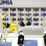 Salget af Nokias Lumia-telefoner går trægt - faktisk går det tilbage. Arkivfoto: Antti Aimo-Koivisto, Reuters/Scanpix