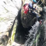 Canyoning kræver lyst til at kaste sig ud i dybe kløfter og strømmende vandfald.
