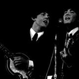 Paul McCartney John Lennon og George Harrison, som de så ud, da de optrådte i København. Nu kommer de snart på alle TV-skærme. Foto: Allan Moe/Scanpix