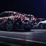 Det første blik på den nye Supra får vi på den engelske festival, Goodwood Festival of Speed, hvor en kamufleret udgave debuterer sammen med en racerudgave fra Toyota-holdet Gazoo Racing