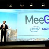 Nokia havde ikke en eneste telefon med, men præsentation af det nye store, styresystemet MeeGo, var nyheden ved den finske mobilgigants pressemøde på 2010-udgaven af verdens største mobilmesse i Barcelona. Her ses chipgiganten Intels og Nokias respektive chefer på scenen ved lanceringen. Arkivfoto: Josep Lago, AFP/Scanpix