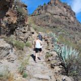 Ruten Camino de Santiago på Gran Canaria går både op og ned i det smukke landskab.