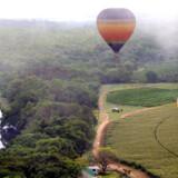 Præcisionen og styringen af luftballonen er imponerende. Kaptajnen kan få bunden af kurven til at danse hen over trætoppene. Foto: Nanette Vabø