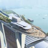 Hotel Marina Bay Sands ved Marina Bay.