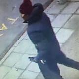 Tre overvågningsfotos af den formodede gerningsmand. Politiet beder om hjælp til at genkende ham. Ring 114, hvis du ved noget.