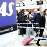 Københavns Lufthavn i Kastrup, fredag den 27. februar 2015. Kabinepersonalet i SAS har nedlagt arbejdet, da et medlemsmøde fredag den 27. februar 2015 har udviklet sig til et fagligt møde, oplyser kabinepersonalets fagforening, CAU.