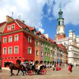 Den gamle markedsplads er en af de største og flotteste i det østlige Europa. Og udbuddet af cafeer og restauranter er enormt i centrum af Poznan.