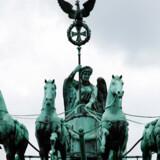 Her ses toppen af Brandenburger Tor.