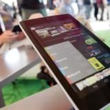 Google har lanceret sin egen tavlecomputer, Nexus 7, som tager kampen op med Amazons storsælgende Kindle Fire. Foto: Matthew Sumner, AFP/Scanpix