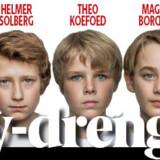 """De syv drenge, der skal dele de to hovedroller i musicalen """"Billy Elliot""""."""