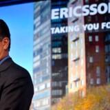 Ericssons topchef, Carl-Henric Svanberg, mærker nu, at det strammer til. Foto: Jessica Gow, AFP/Scanpix