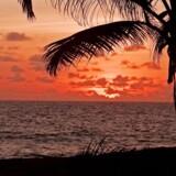 Solnedgang på Seychellerne