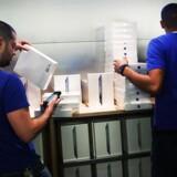 Leverancerne af Apples iPad var i januar-marts mindre end nogen sinde tidligere, men Apple holder skansen som største computerleverandør, viser ny analyse. Arkivfoto: Spencer Platt, Getty/AFP/Scanpix