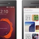 Ubuntu Edge kan både fungere som smartphone og som traditionel computer, hvis du sætter en skærm til den. PRESSEFOTO