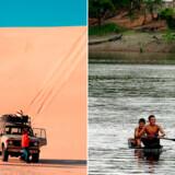 Tør ørkenferie i Egypten eller våd ferie i Amazonas regnskoven i Sydamerika?