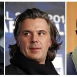 Den franske storklub Olympique Marseille er hvirvlet ind i en sag om returkommission med tråde til underverdenen i en række store spillerhandler. Klubbens nuværende præsident, Vincent Labrune (i midten) har været tilbageholdt i sagen lige som de tidligere præsidenter i klubben Pape Diouf (til højre) og Jean-Claude Dassier har måttet svare på politiets spørgsmål.