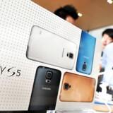 Galaxy S5 er den nye topmodel fra verdens største mobilproducent, Samsung, og som ventet har den sat ny salgsrekord. Arkivfoto: Jung Yeon-Je, AFP/Scanpix