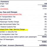 """Københavnere undrede sig blandt andet over den """"amerikanske landsbrugsafgift"""" på flybilletten fra Air Canada."""