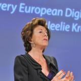 EUs kommissær for den digitale dagsorden, Neelie Kroes, vil sikre mere mobilt bredbånd til alle EU-borgere. Foto: Georges Gobet, Reuters/Scanpix
