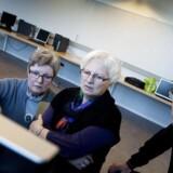 Ældre midtjyder på edb-kursus. Arkivfoto: Morten Melhede